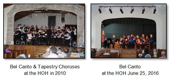 Bel Canto at the Harrington Opera House in 2010 and 2016