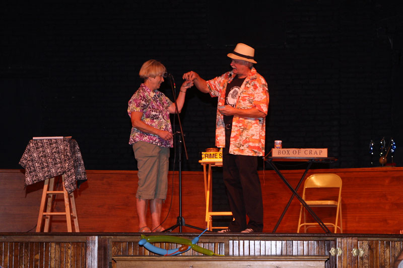 John the Hat with Linda W - Magic Show on the Harrington Opera House Stage