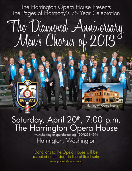 Pages of Harmony - Diamond Aniversary - April 20, 2013 Concer Poster